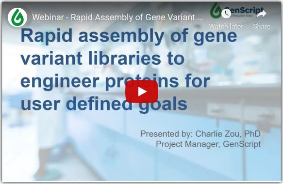 Rapid Assembly of Gene Variant Libraries to Engineer Proteins for User Defined Goals