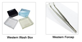 western blot forceps, wash box, dot blot box