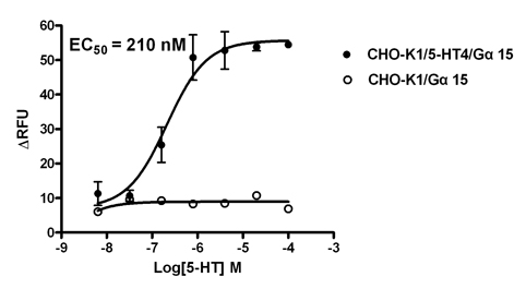CHO-K1/5-HT4/Gα15 Stable Cell Line