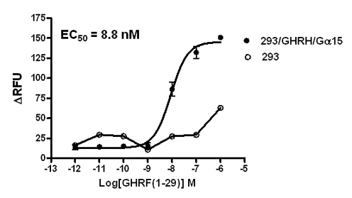 293/GHRH/Gα15 Stable Cell Line