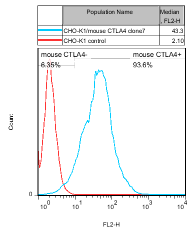CHO-K1/mouse CTLA4 Stable Cell Line
