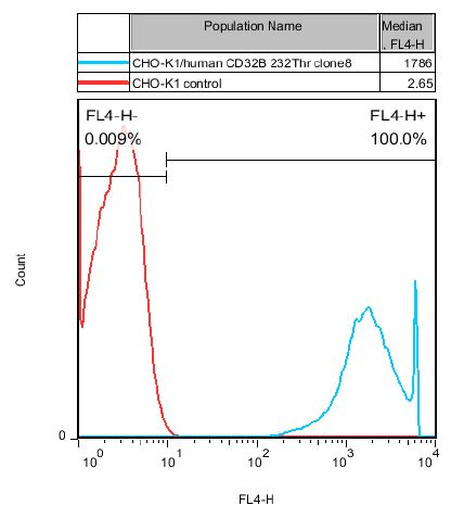 CHO-K1/CD32B 232Thr Stable Cell Line